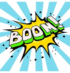 Boom Comic Speech Bubble Cartoon vector image vector image