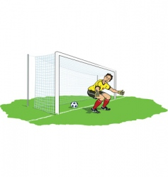 goalkeeper bypassed vector image vector image