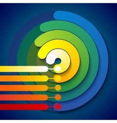 Infographic rainbow 3d circle shapes 5 options vector image vector image