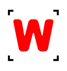 letter w sign design template element red vector image