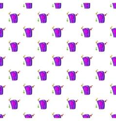 Music column pattern cartoon style vector image vector image