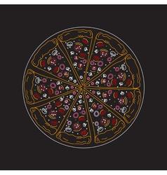 sketch pizza vector image