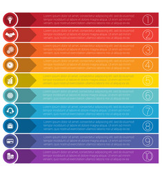 templates infographics from strips for ten vector image vector image