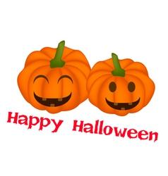 Two Jack-o-Lantern Pumpkins in Happy Halloween vector image