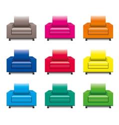 armchair set vector image vector image
