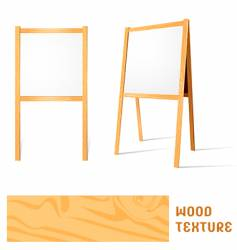 blank easels vector image vector image
