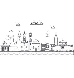 croatia architecture line skyline vector image