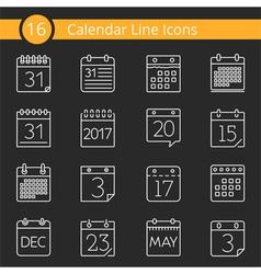 16 Calendar Icons vector image vector image