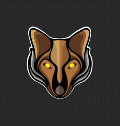 fox logo design template fox head icon vector image vector image