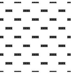 little crown pattern vector image vector image