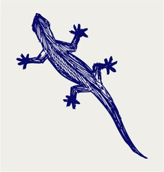 Silhouette of a gecko vector image vector image
