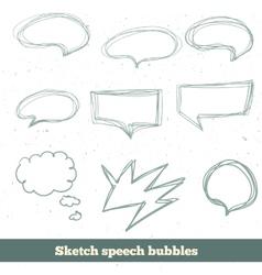 sketch speech bubbles set EPS10 vector image vector image