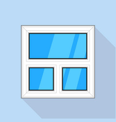 white blind plastic window icon flat style vector image vector image
