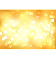 Yellow sunny festive lights background vector image vector image