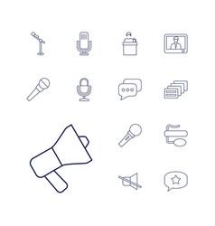13 speak icons vector