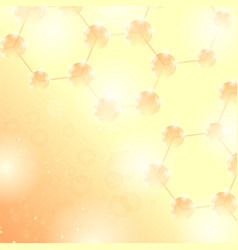 abstract molecules design structure molecule and vector image