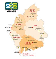 administrative map english county kent vector image