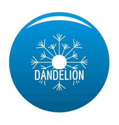 Aerial dandelion logo icon blue vector
