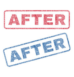 After textile stamps vector