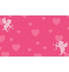 Background love greeting card vector