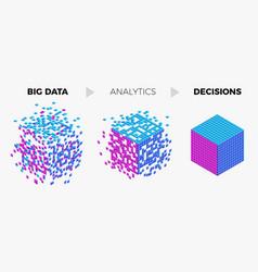 big data analytics algorithm concept vector image