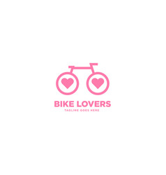Bike lovers simple logo template vector