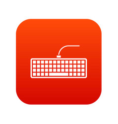 black computer keyboard icon digital red vector image