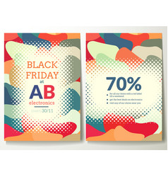 black friday flyer template vector image