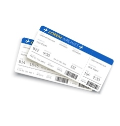 Boarding Pass Ticket vector image