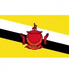 brunei flag vector image