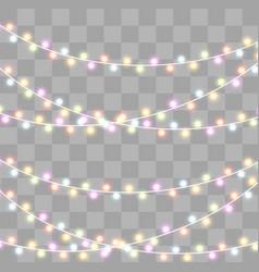 christmas lights effect vector image