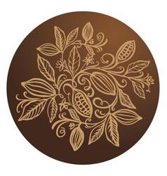 Cocoa beans chocolate cocoa beans vector