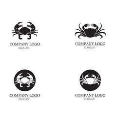 Crab silhouettes on the white background icons vector