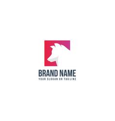 Creative logo design wolf vector