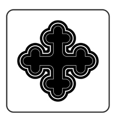 Cross icon on white background vector