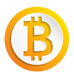 crypto currency bitcoin paper style logo vector image