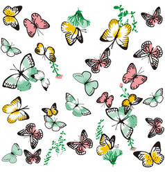 cute butterfly pattern vector image