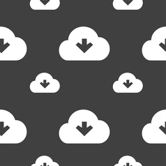 Download from cloud icon sign Seamless pattern on vector image