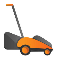 electric grass cutter icon cartoon style vector image