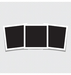 Empty photo frames on white background vector image