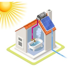 Energy Chain 06 Building Isometric vector image