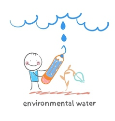 environmental water vector image