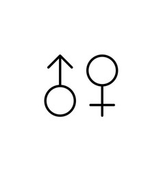 Female male gender icon on white background vector