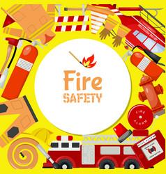 Fire safety round pattern vector