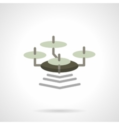 Flat color wi-fi drone icon vector image