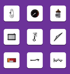 flat icon component set of input technology vector image