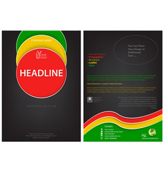 flyer template with colored circles vector image