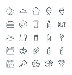 Food Cool Icons 2 vector image