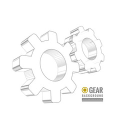 Gear schematic vector