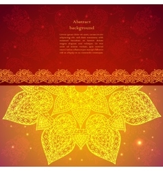 Golden ethnic indian background vector image